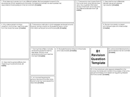 B1 Revision Question Template