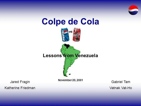 cola wars executive summary Mission statement coca cola is the world's leading  coca-cola: swot analysis  summary coca cola could make a killing in the beverage market alone.