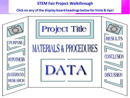 STEM Fair Project Walkthrough