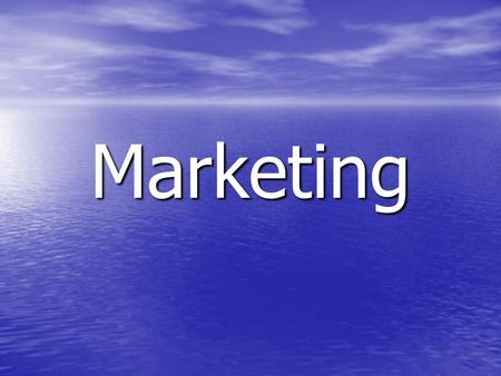 Marketing. Marketing Marketing is the function that involves identifying the needs of consumers and developing a product to fulfil and satisfy those needs.