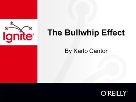 The Bullwhip Effect By Karlo Cantor. What is the Bullwhip Effect? Demand variability increases as you move up the supply chain away from the consumers.