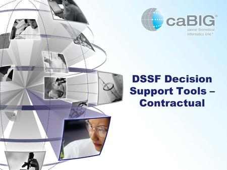 DSSF Decision Support Tools – Contractual. Usual Disclaimers The analyses represented in the following slides reflect current understanding of applicable.