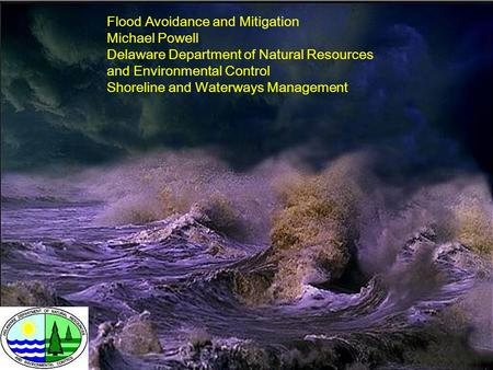 Flood Avoidance and Mitigation Michael Powell Delaware Department of Natural Resources and Environmental Control Shoreline and Waterways Management.