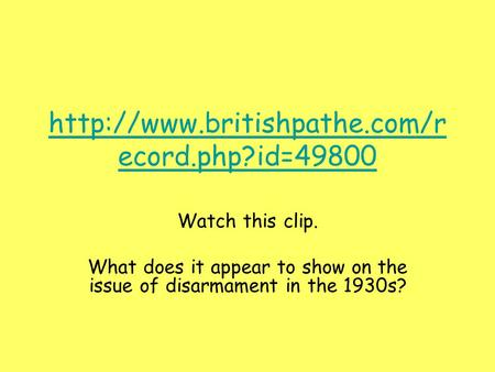 What does it appear to show on the issue of disarmament in the 1930s?