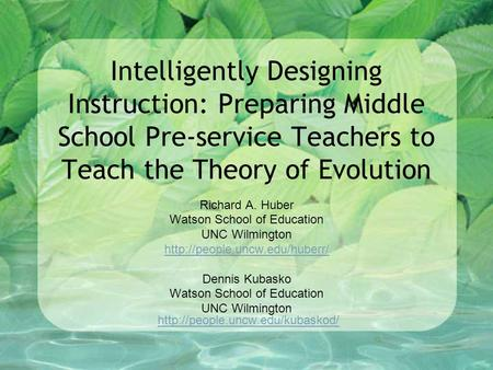 Why should intelligent design be taught in schools?