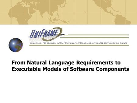 From Natural Language Requirements to Executable Models of Software Components.