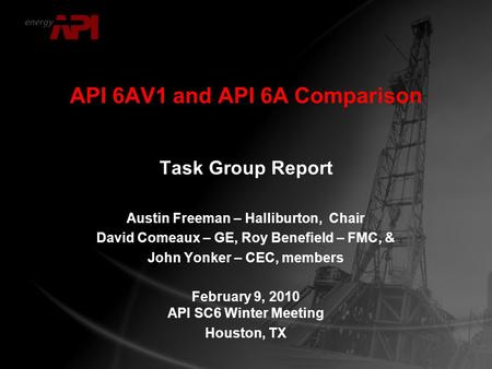 API 6AV1 and API 6A Comparison