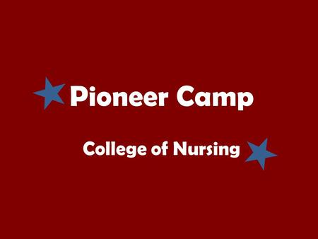 Pioneer Camp College of Nursing. About the CON Advisors: Heather Close Jeff Ray Brittanie Romine Donna Stallings You will not be assigned to a specific.