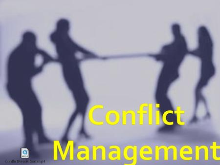  Everyone handles conflict differently.  The 5 conflict management styles are:  Competing  Avoiding  Collaborating  Accommodating  Compromising.