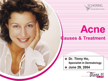 Dr. Tinny Ho, Specialist in Dermatology June 29, 2004 Acne Causes & Treatment.