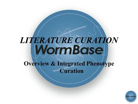 SAB 2008 LITERATURE CURATION Overview & Integrated Phenotype Curation.