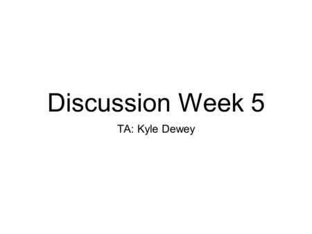 Discussion Week 5 TA: Kyle Dewey. Overview HW 3.10 and 6.2 review Binary formats System call execution in NACHOS Memory management in NACHOS I/O in NACHOS.