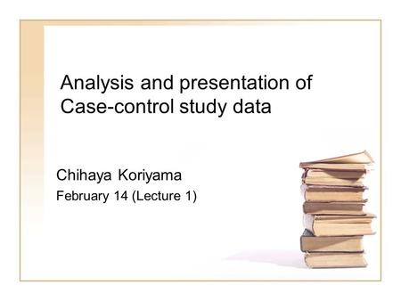 bias in case control studies ppt Nested case-control studies are carried out when it is either too costly or not feasible to perform additional biospecimen analyses on an entire cohort such data may be newly thought of, after the initial exposure measurements had been made, as was the case in the above example.