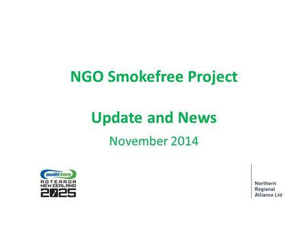 NGO Smokefree Project Update and News November 2014.