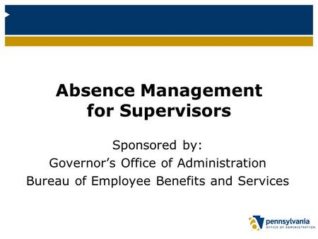 Absence Management for Supervisors