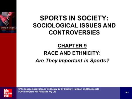 SPORTS IN SOCIETY: ISSUES & CONTROVERSIES IN AUSTRALIA AND NEW ZEALAND