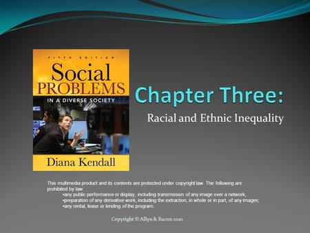 Racial and Ethnic Inequality