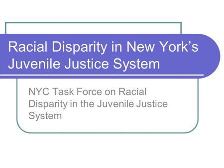 a analysis of juvenile justice system