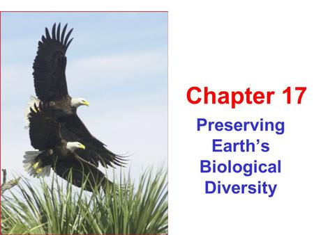 Preserving Earth's Biological Diversity Chapter 17.