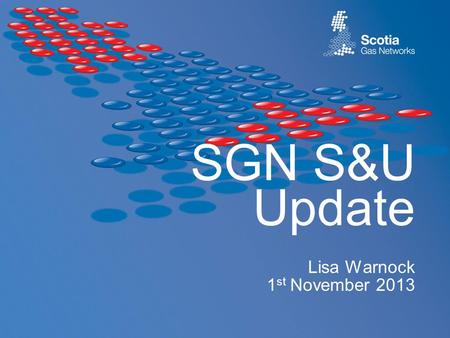 SGN S&U Update Lisa Warnock 1 st November 2013. 2 Agenda Data cleansing (set to dead/extinct) Shipper interaction SGN root cause measures.