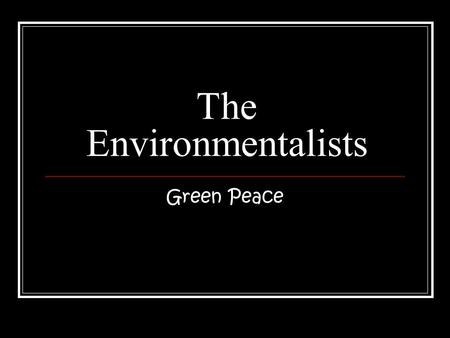 The Environmentalists Green Peace. Index The good points of the rainforest (slide 3) The bad points of the rainforest (slide 4) The future of the rainforest.