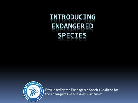 Developed by the Endangered Species Coalition for the Endangered Species Day Curriculum.