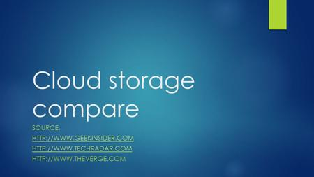Cloud storage compare SOURCE: