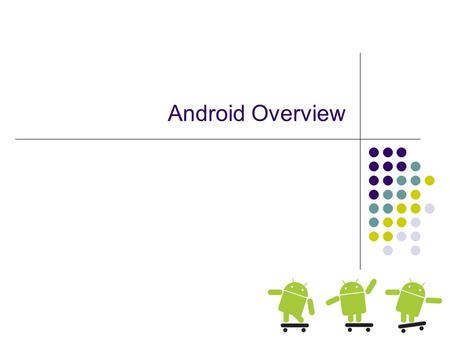 Android Overview. Why Mobile App Development? The fact that we can! Only a few years ago you had to be in the Motorola inner circle to do it! Mobile platform.