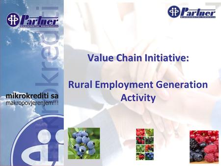 Www.partner.ba Value Chain Initiative: Value Chain Initiative: Rural Employment Generation Activity.