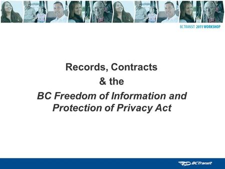 BC Freedom of Information and Protection of Privacy Act