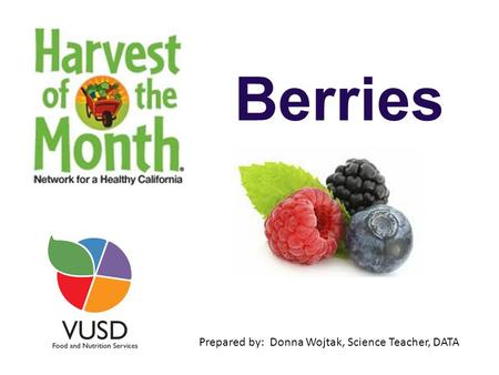 Berries Prepared by: Donna Wojtak, Science Teacher, DATA.