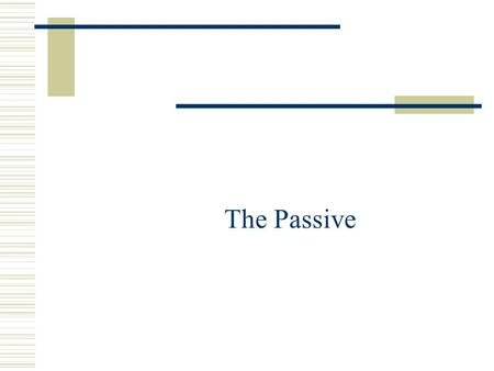 The Passive.  Used when the subject of the sentence is not the doer of the action, but rather what the action is directed at Compare: The secretary typed.