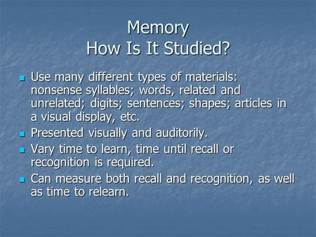 How Many Types of Memory Are There?
