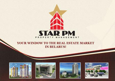 YOUR WINDOW TO THE REAL ESTATE MARKET IN BELARUS!.