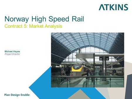 Norway High Speed Rail Michael Hayes Project Director Contract 5: Market Analysis.