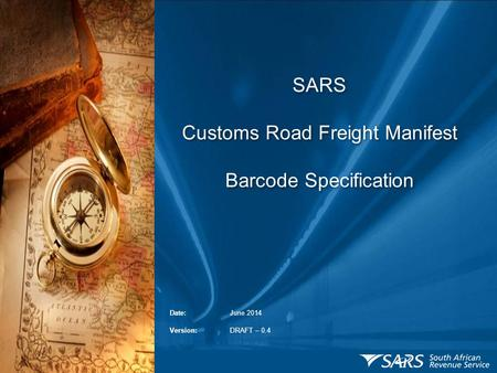 SARS Customs Road Freight Manifest Barcode Specification.