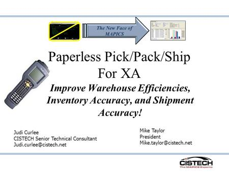 Paperless Pick/Pack/Ship For XA