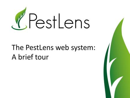 The PestLens web system: