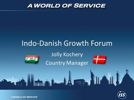 Indo-Danish Growth Forum Jolly Kochery Country Manager.