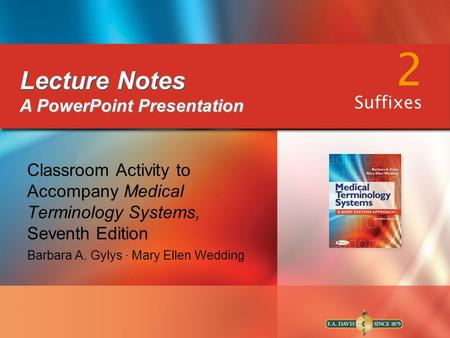 2 Lecture Notes A PowerPoint Presentation Suffixes