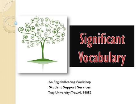 Significant Vocabulary