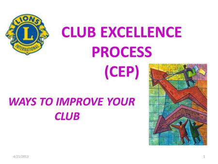 CLUB EXCELLENCE PROCESS (CEP) WAYS TO IMPROVE YOUR CLUB 14/21/2013.