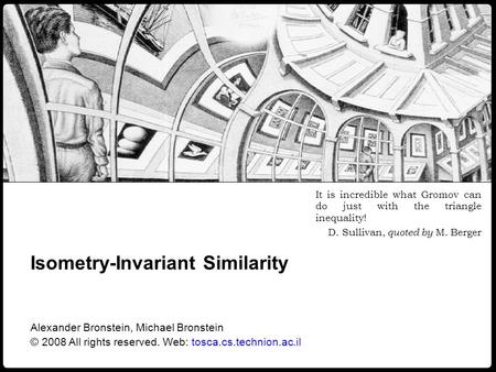 Isometry-Invariant Similarity
