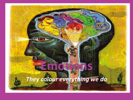 Emotions They colour everything we do. Aims Aim of this weeks lesson is to give you insight into various emotions and their origin and the difference.