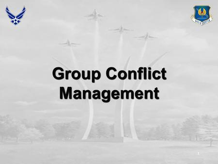 1 Group Conflict Management. 2 Overview Methods of managing conflict Situational considerations Conflict resolution exercise (Bomb Shelter) Sources of.