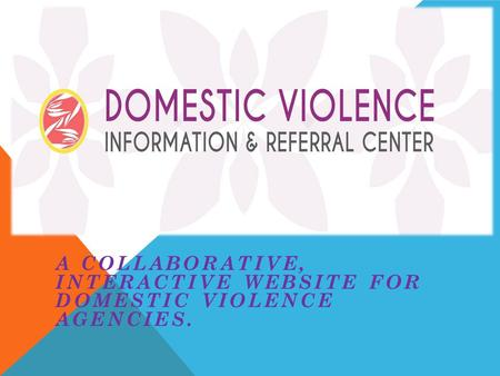 A COLLABORATIVE, INTERACTIVE WEBSITE FOR DOMESTIC VIOLENCE AGENCIES.