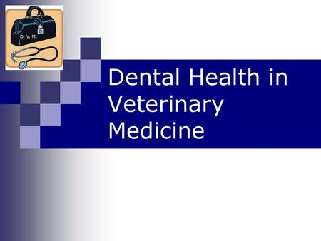 Dental Health in Veterinary Medicine What do animals use their teeth for? Chewing Catching prey Self defense.