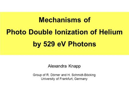 Photo Double Ionization of Helium
