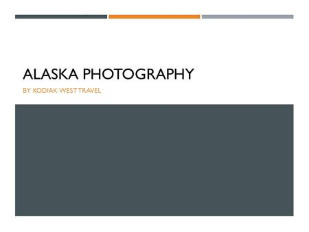 ALASKA PHOTOGRAPHY BY KODIAK WEST TRAVEL. LIGHTS, CAMERA, ACTION Be prepared at all times with your camera. You will want to be ready if nature decides.