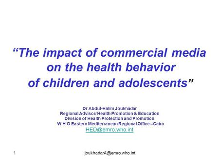 the impact of media on behavior Social networking web sites, such as facebook and myspace, can have a  tremendous impact on adolescents' health previous research with traditional  media.